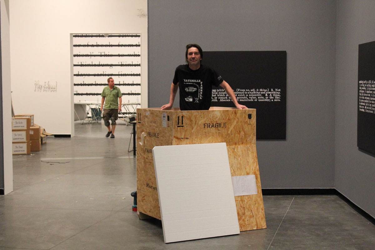 Working at Acca gallery...Melbourne 2010.